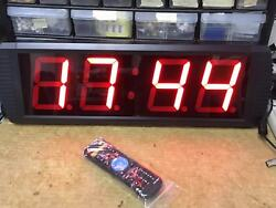 Indoor LED Countdown/up Timer Clock 4   Digits Count Max to 99 Hours 59 Minutes