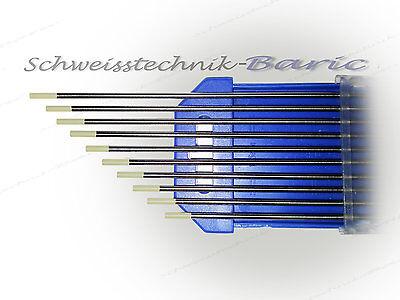 10x Wolfram Elektrode WIG-Nadeln Wolframnadel Wolframnadeln  WC-20 1,6Ø x 175 mm