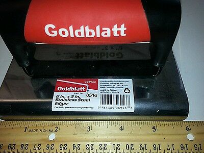 Goldblatt 6 In. X 3 In. Professional Stainless Concrete Edger Soft Handle G06953