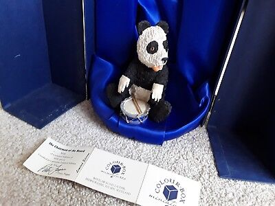 COLOUR BOX PETER FAGAN BEAR FIGURE THE CHAIRMAN OF THE BOARD LIMITED EDITION MIB