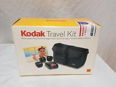 KODAK TRAVEL KIT - DIGITAL CAMERA - RAPID CHARGER, POWER PLUGS, TRAVEL CASE, NEW Kodak Travel Kit