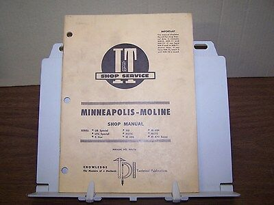 Minneapolis Moline Ub Uts Special 5 Star M5 M504 602 604 670 Tractor Shop Manual