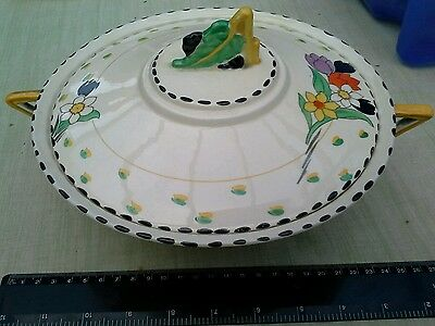 Burleigh Ware Zenith Fragrance Pattern Dinner Service  Art Deco 27 pieces