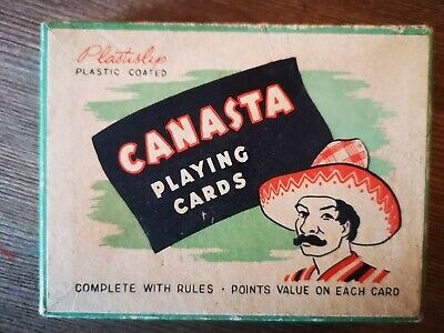 50s Canasta Playing Cards Hudson Industries Plastislip twin pack