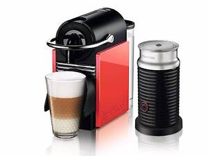 Nespresso Pixie Clips White & Coral Neon Coffee Pod Machine Walkerville Walkerville Area Preview