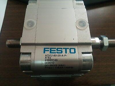 Festo Pneumatic Cylinder 156058 Advu-80-25-a-p-a-s2 Advu8025apas2