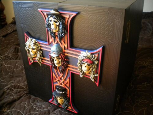 Guns N' Roses Locked N Loaded Box EMPTY Includes COA BRAND NEW Hand Painted