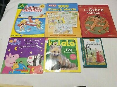 Peppa Pig French (Lot of 6 Children's French Books Peppa Pig Fino el renardeau La)