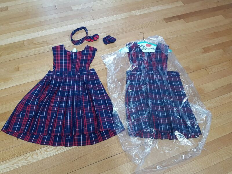 Flynn o Hara Girls Uniforms with all Hair accessories.size 8.5