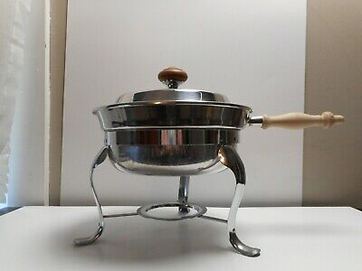 Round Chafing Dish With Wooden Handle 5 Piece