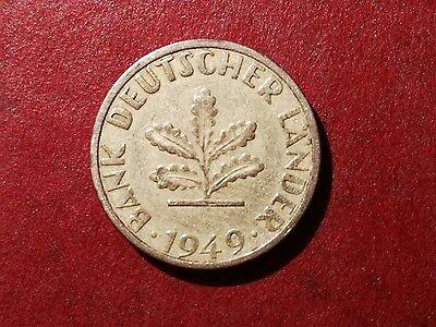 5 Pfennig 1949 F Bank Deutscher Länder Münze sammelt selten rar  (23)