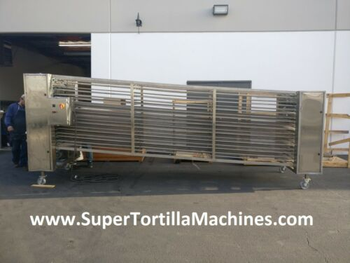 9 Levels Tortilla Cooling Conveyor Cooler High Production