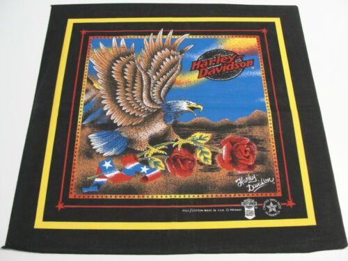 Harley Davidson Vintage Bandana Eagle Roses