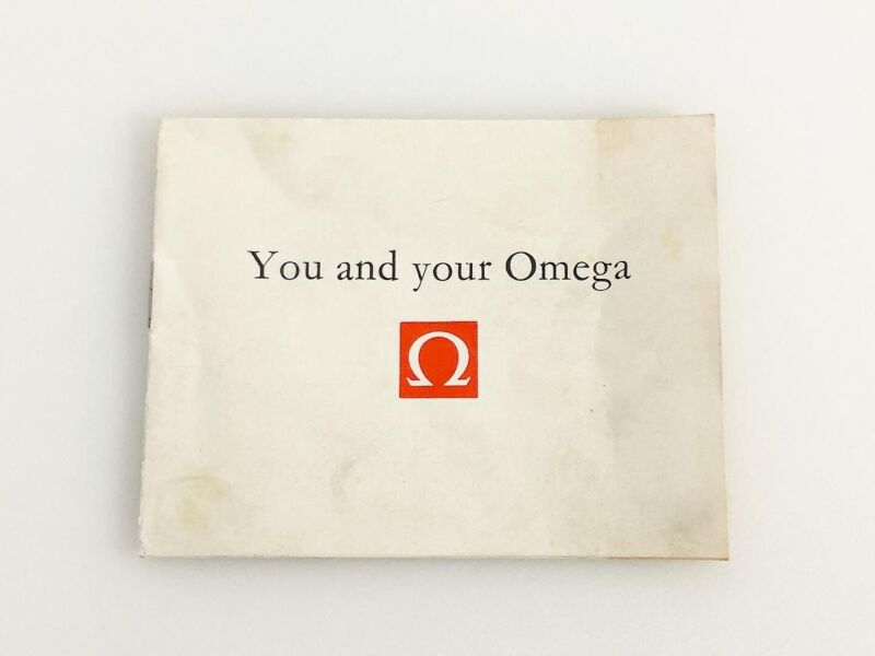 VINTAGE YOU AND YOUR OMEGA BOOKLET FOR SELF-WINDING, MANUAL WINDING AND F300