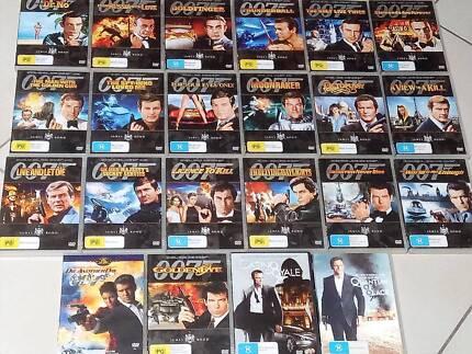 22 DVD MOVIES JAMES BOND COLLECTION CONNERY CRAIG MOORE BROSNAN