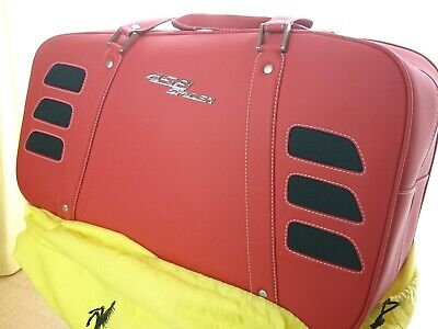 FERRARI 458 SPIDER ORIGINAL SCHEDONI BAG LEATHER Travel Baggage UNUSED Red