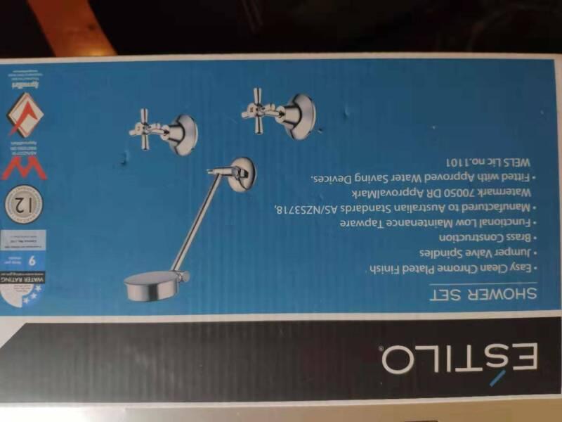 WELS 3 Star 9L//Min Estilo BASIN SET Jumper Valve Spindles CHROME *Aust Brand