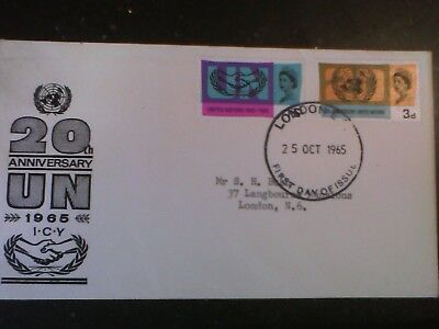 20th Anniversary UN 1965 First Day Issue