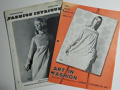 1960's Mod Fashions - Simplicity Pattern Co - Art in Fashion & Fashion Intrigue