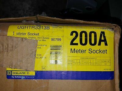 New Square D Ughtrs213b Meter Socket 200 Amp