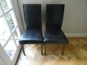 High Back Dining Chairs x 2 Lutwyche Brisbane North East Preview