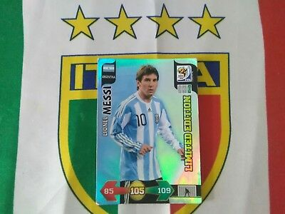 South Africa cup 2010 Adrenalyn xl panini LIMITED EDITION MESSI SUDAFRICA 2010 segunda mano  Embacar hacia Spain