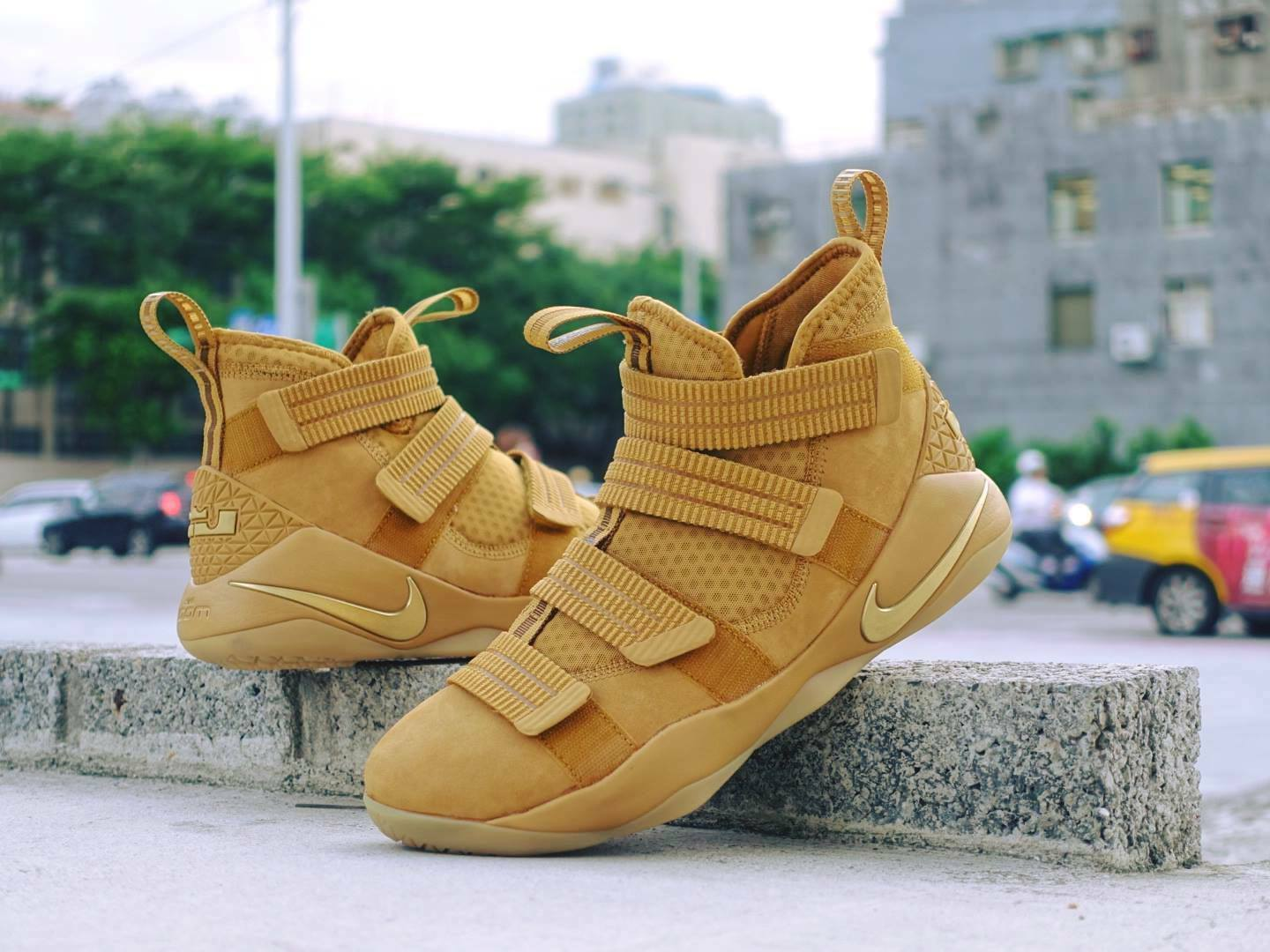 ef7af693fa83 Nike Lebron Soldier XI SFG EP 11 James Wheat Gold Men Basketball 897647-700