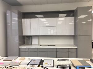 White High Glossy Acrylic Kitchen Cabinets Warehouse Sale