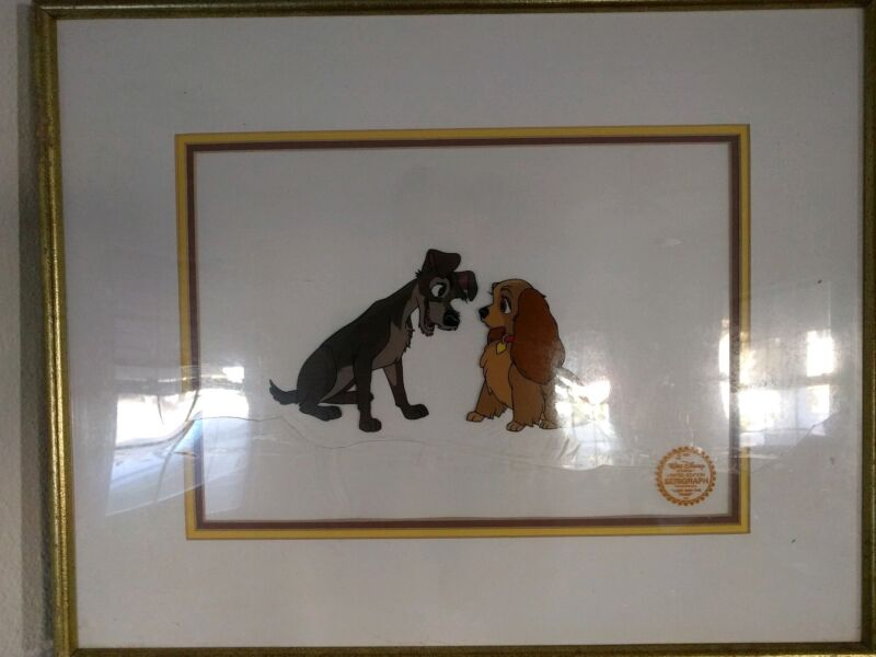 DISNEY LADY AND THE TRAMP LIMITED EDITION SERIGRAPH CEL 1955