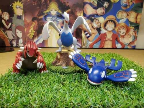 legendary pokemon set action figure lot Groudon Kyogre Lugia 3.5-4inches