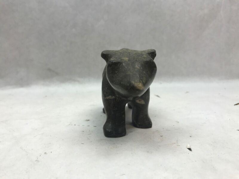 VINTAGE Stone Bear or CAPYBARA SCULPTURE Made in ECUADOR with Sticker
