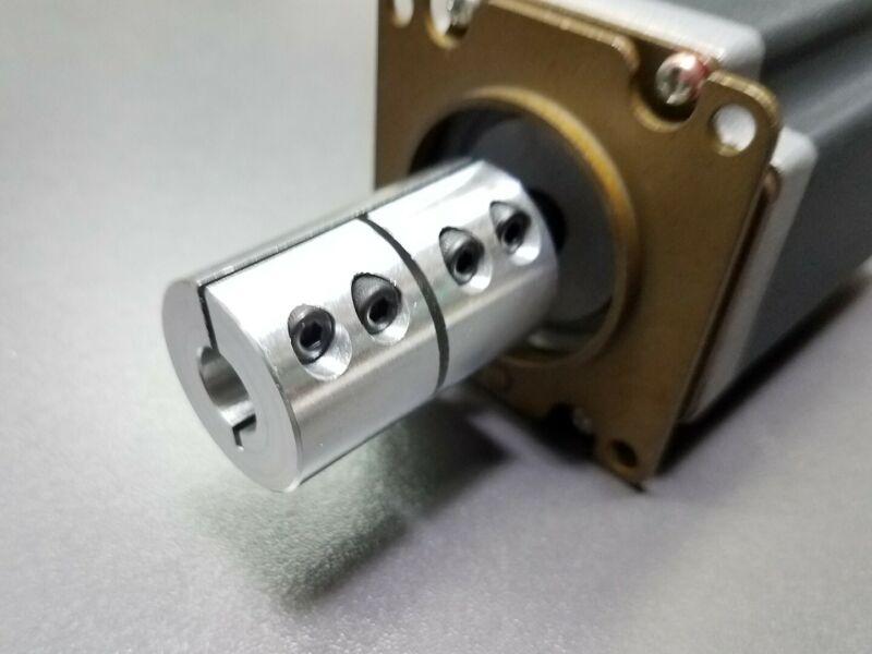 "1/4"" X 1/4"" Rigid Clamp Shaft Coupling Double Length CNC Mill Stepper Nema 23"