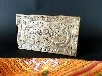 Old Chinese Brass Dragon Box …beautiful display & accent piece