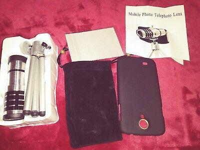 12 × Zoom Magnifier Micro Telescope Camera Lens Tripod for Smartphone iPhone5 5C
