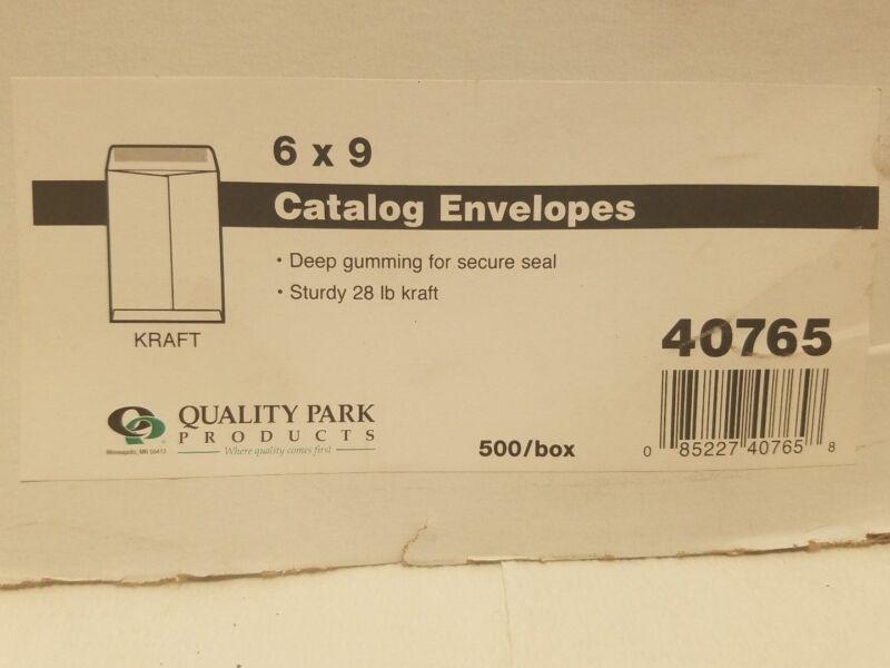 Quality Park 6x9 Kraft Catalog Envelopes 28 lb--500 Count--#40765