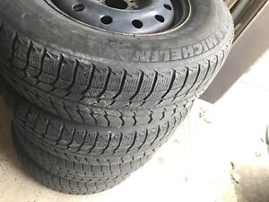 winter tires and rims(Michelin 235/70 R16 106