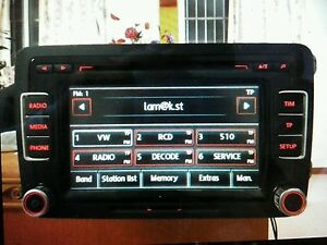 VW Radio Code Unlock and Decode Fast Service for RNS510 MFD MFD2 RNS810