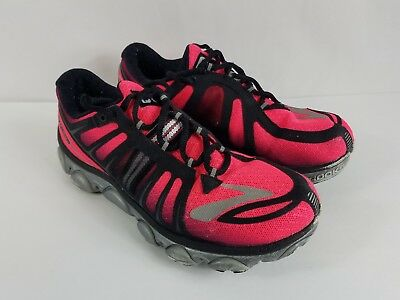 a40e0d1cfca Brooks Pure Flow 2 Womens Size 7.5 Running Training Lace up Shoes Sneakers  Lava