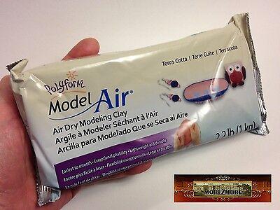 M00696 MOREZMORE 1 kg 2.2 lb Polyform Model Air Dry TERRA COTTA Model Clay A60