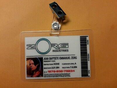 Fünfte Element Id Badge-Zorg Industries Jean Baptiste Emmanuel Cosplay Kostüm ()