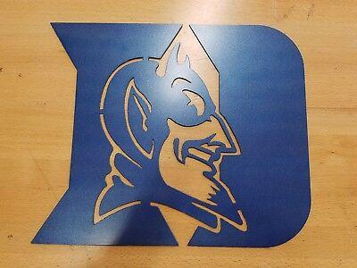 Duke Blue Devils metal wall art plasma cut decor gift idea - Decoration Ideas