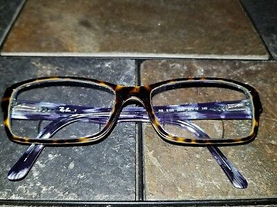 Ray Ban RB 5169 5023 Eyeglass Frames Brown Tortoise w Blue Sport Eyewear