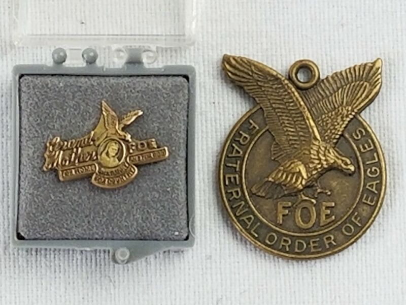 FOE Grandmother Auxiliary Pin And Pendant Fraternal Order of eagles vintage rare