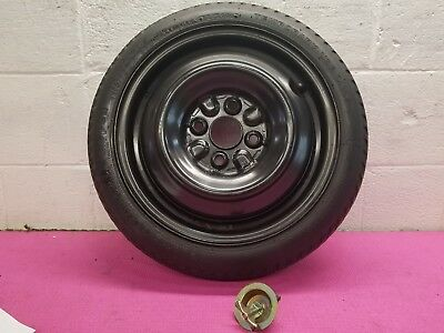 93  02 01 Geo Prizm Spare Tire And Wheel T115 70D 14 Donut W Hold Down