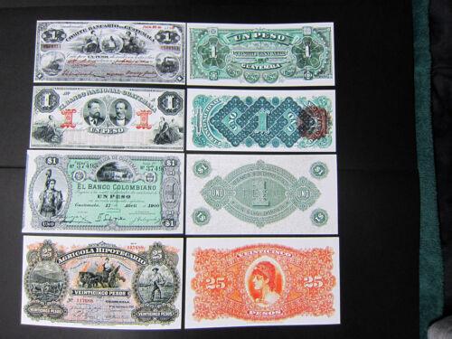 Old Guatemala notes Comite Bancario Nacional Colombiano Agricola Reproductions