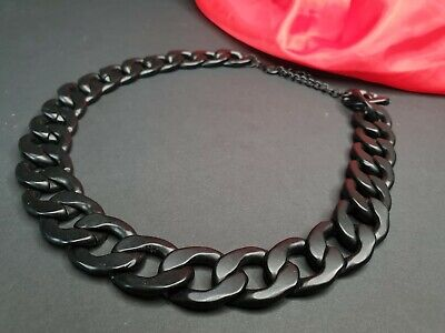 Old Mat Black Heavy Chain Necklace …beautiful accent piece