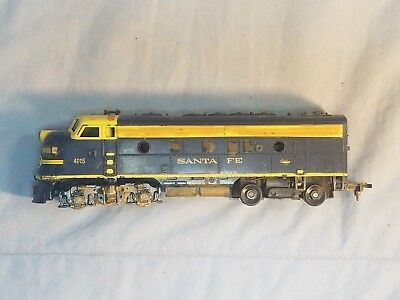 Tyco Blue & Yellow Santa Fe F7A Powered locomotive #4015 (parts or repair) for sale  Beloit