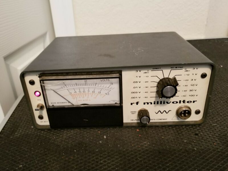 Helper instruments RF801 Millivoltmeter