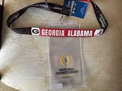 2018 College Football National Championship Alabama Lanyard/Ticket holder -SALE!