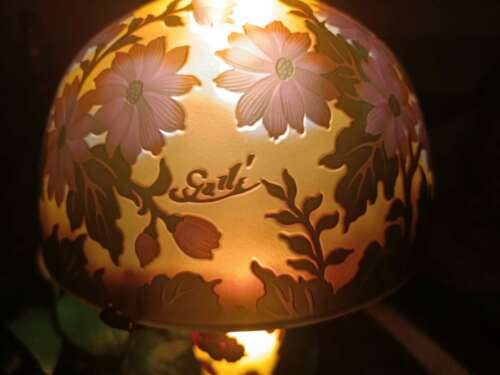 Very beautiful. Emile Galle lamp